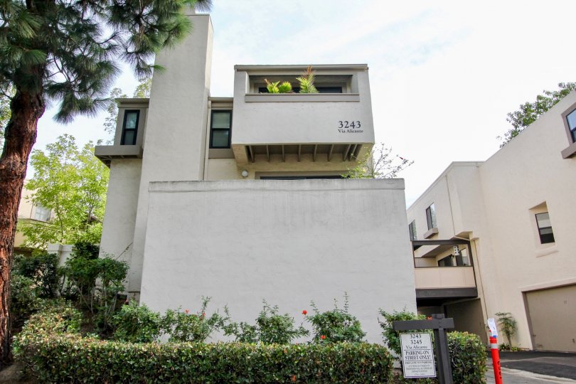 Three story home with enclosed patio inside Woodlands West I in La Jolla CA