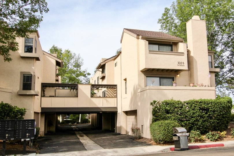 The peaceful and serene apartment complex in the Woodlands West l of La Jolla.