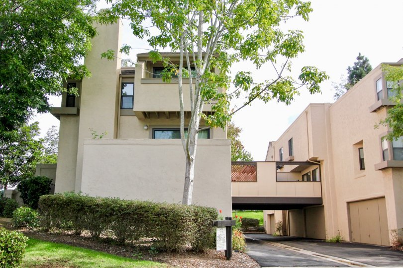 Tall chimney on a two story condo in Woodlands West I in La Jolla CA