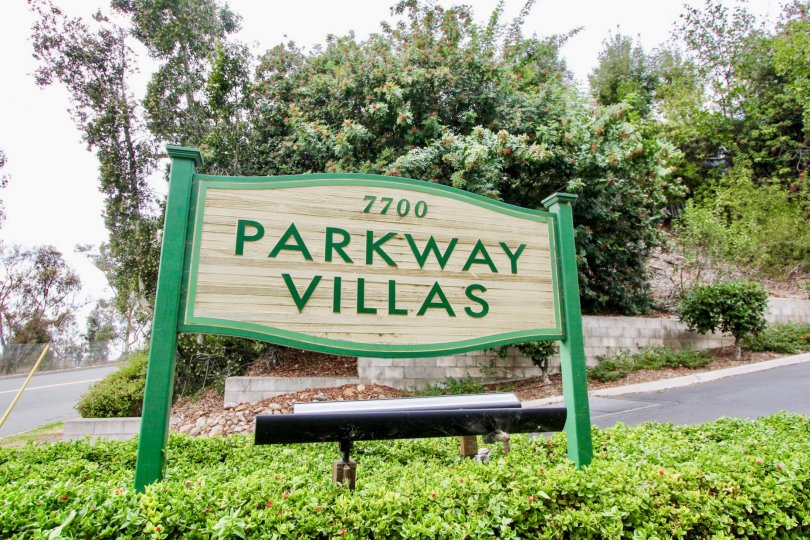 THE 7700 PARKWAY VILLAS IN THE PARKWAY VILLAS WITH THE PLANTS, TREES, THAR ROAD