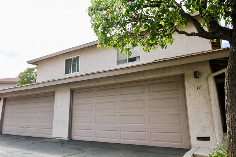 Super wide double garage doors in Pinecrest in La Mesa