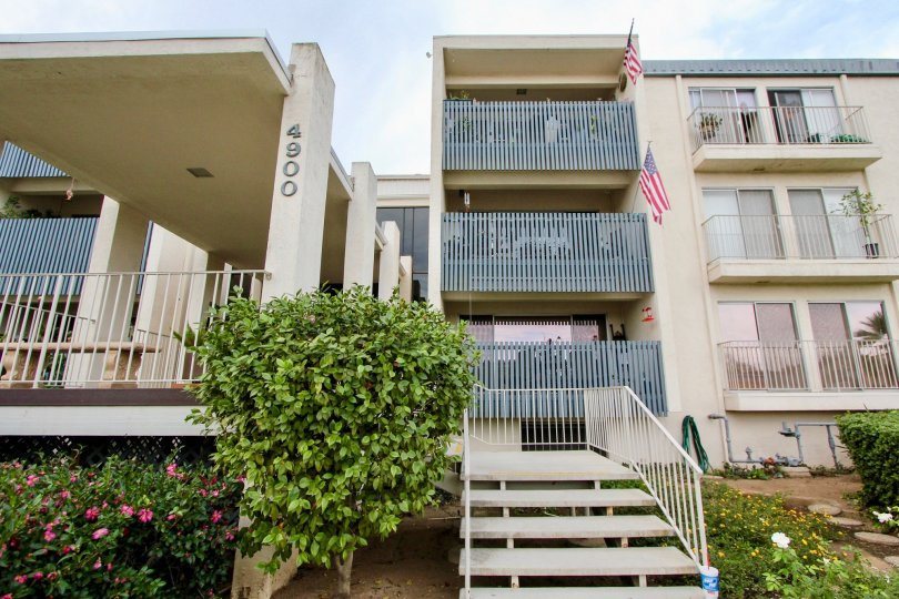 Two Flags are hanger in Each Balcony of 4900 apartment in Rosehedge Manor