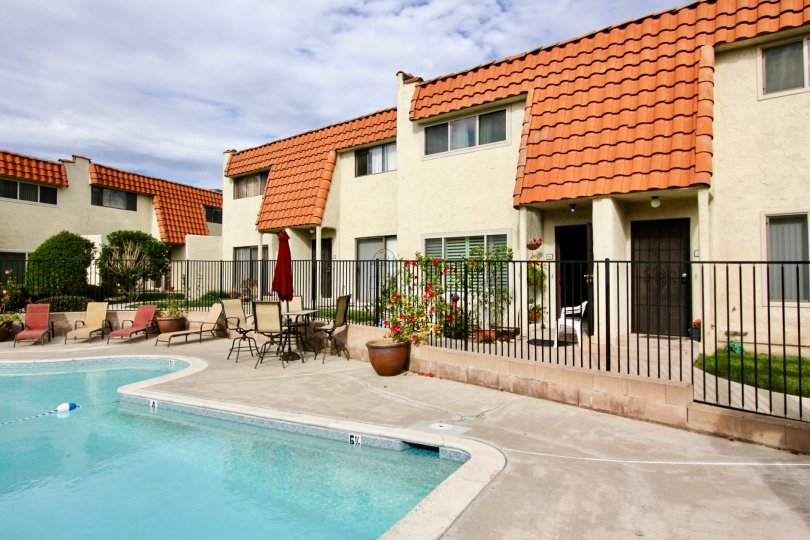 A sunny day in Tangerine Terrace housewith beautiful garden and swimming pool