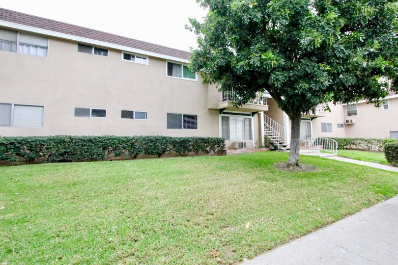 Westwood Village beige two-story building with lawn La Mesa California