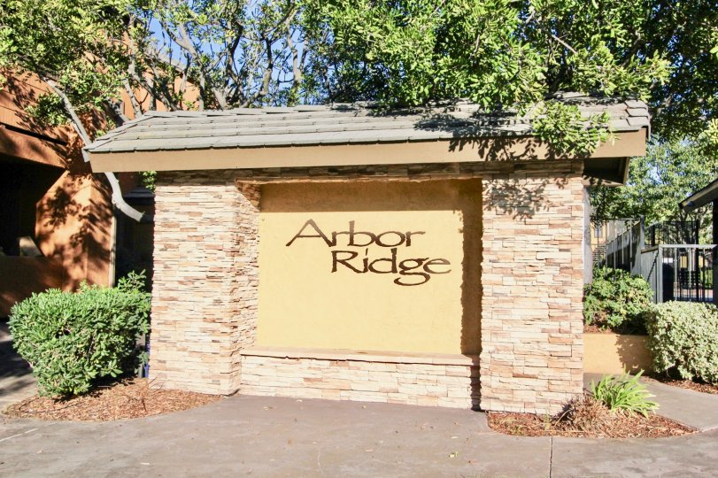 Arbor Ridge's entrance signage is as beautiful as the community it'self. Mira Mesa, California