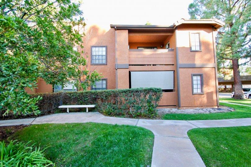 Arbor Ridge :, Mira Mesa,   California,lawn concrete pathway