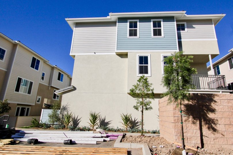 A sunny day in Aura area with House surrounded with trees and spacious area in Mira Mesa City