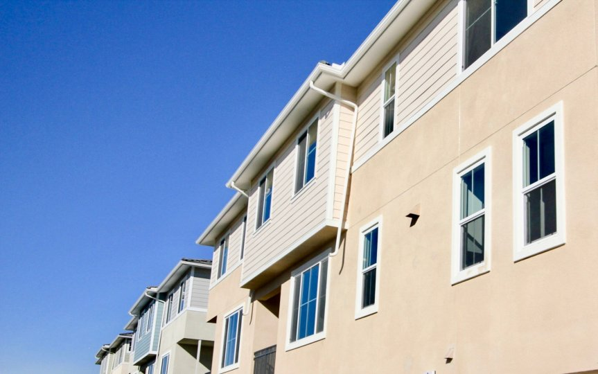 Two story residential building at Aura in Mira Mesa California