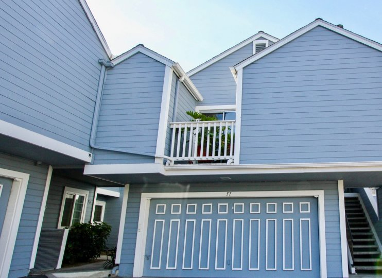 Two story residence with attached garage at Canyon Colony in Mira Mesa California