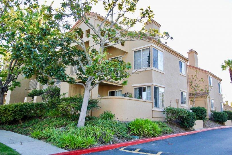 Beautiful Building of Canyon Park Villas with it's greenery, Mira Mesa City, California