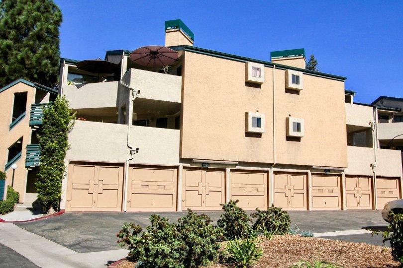 Creekside Community Apartments:Garages  Mira Mesa California