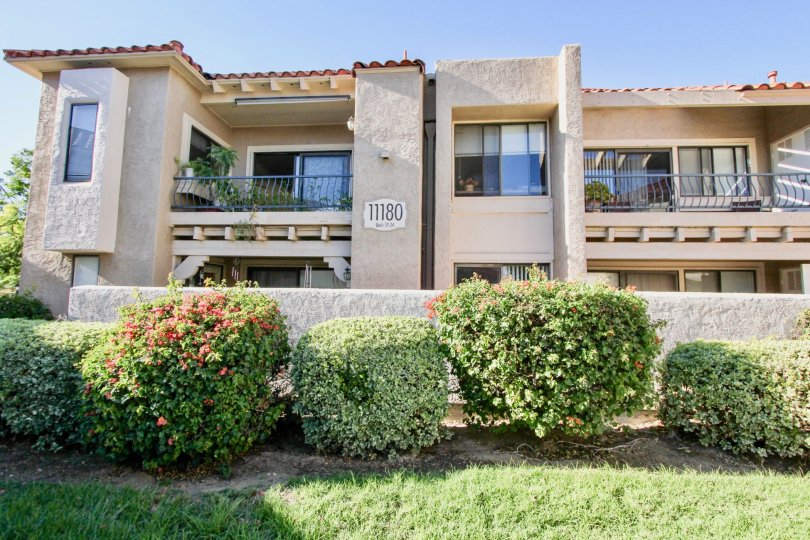 Sunny day in front of residence in Flair, Mira Mesa, CA