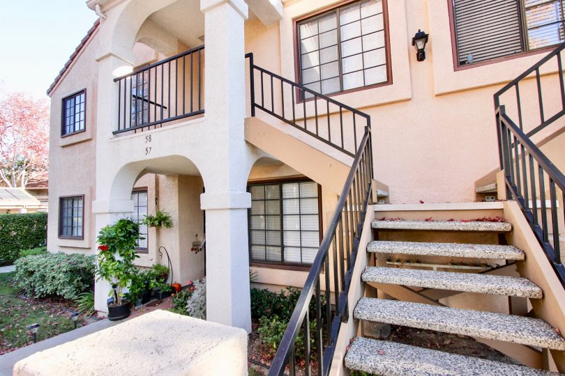 Entry stair way of High Ridge Community, Mira Mesa, CA