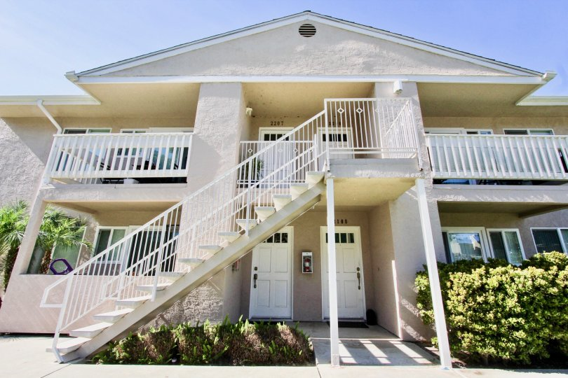 Beautiful House with staircase and having two entrance doors with garden in Mirabella Point of Mira Mesa
