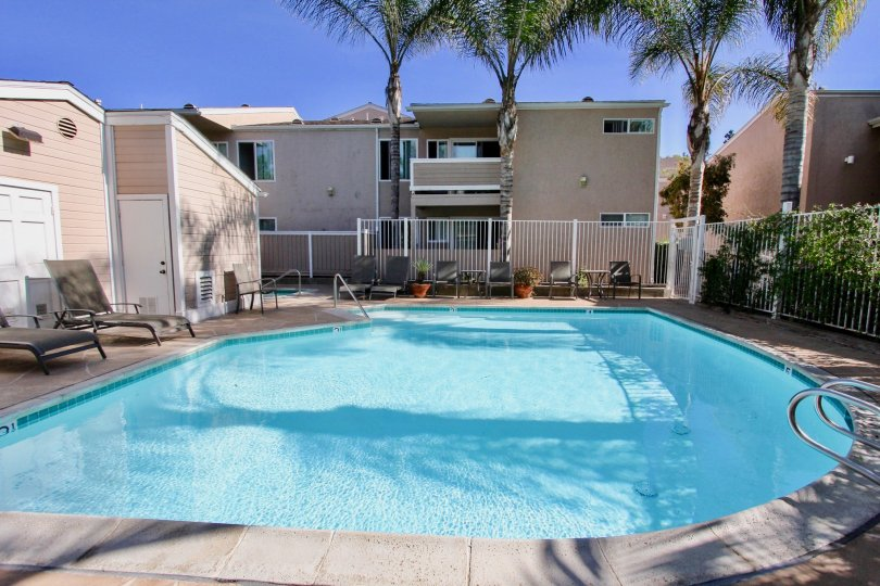 Beautiful villas with swimming pool in front in Mirabella Point of Mira Mesa City