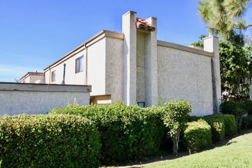 Artistically built edifice and their green surrounding in Montery Village, Mira Mesa, California