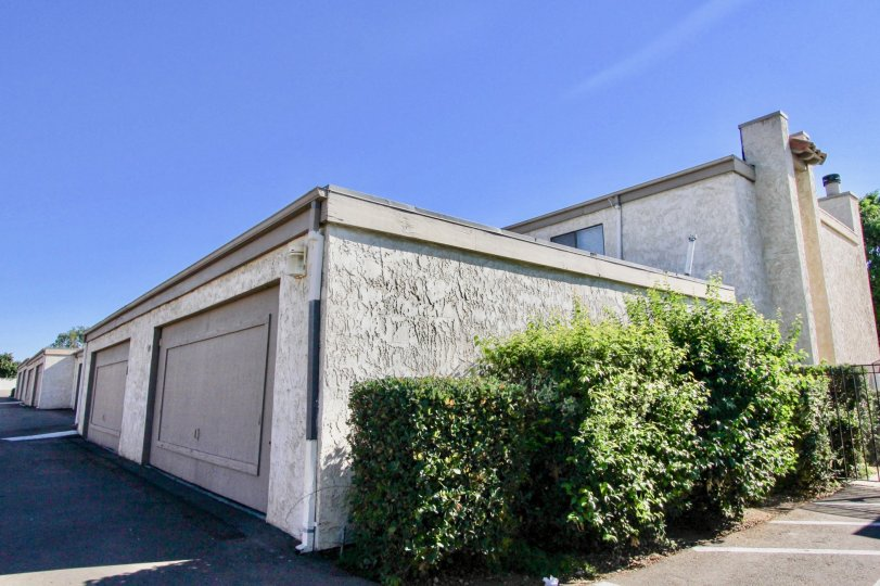 Garages at Monterey Village Community in Mira Mesa California