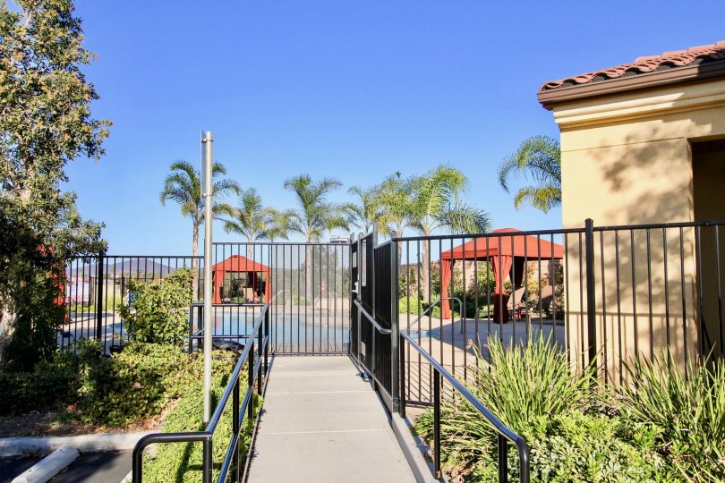 A nice sunny day at Sorrento Terrace in Mira Mesa in California