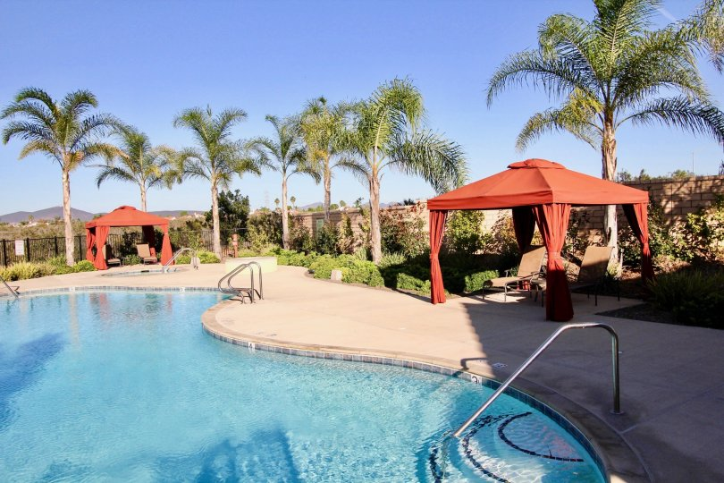 Grand Swimming Pool facility Sorento Terrace in Mira Mesa, California