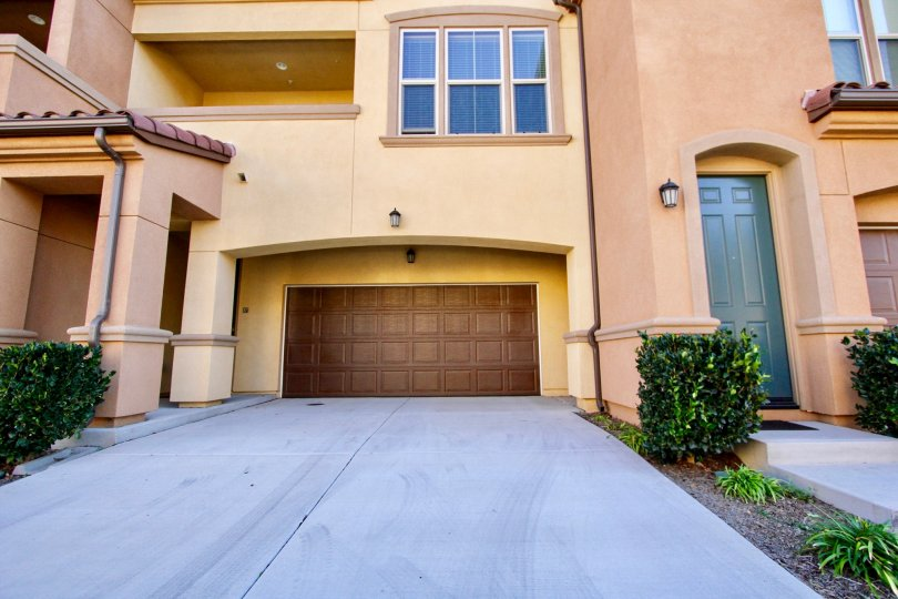Homes in the Sorrento Terrace community located in Mira Mesa, California
