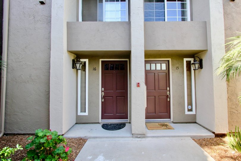 Front entry gate with passage in Windsor Park Community, Mira Mesa, CA
