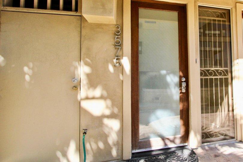 The Front door for apartment 3575 at Carmel Villas.