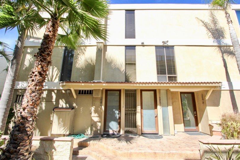 Carmel Villas three story residential building in Mission Beach CA