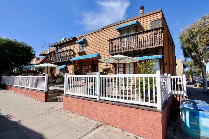 Comfortable patios and balconies at Casa Deal in Mission Beach, California.