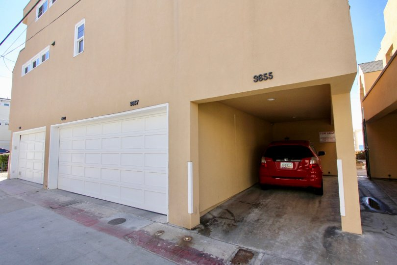 A private garage under a modern residence in the Far Horizon