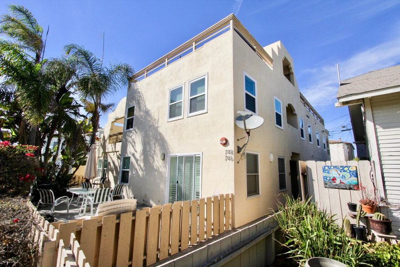 A city home in Mission Beach California in the community of Isthmus Condos.