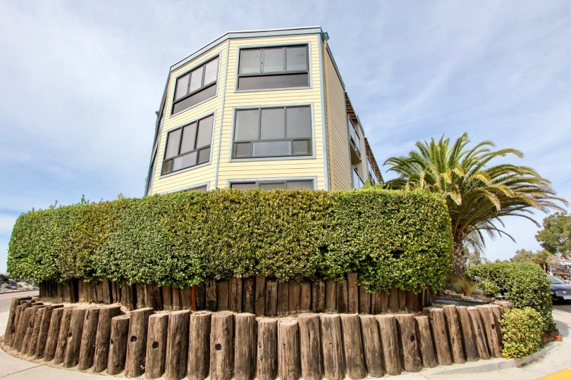 Mission Beach, CA; Beach House above the Hedges with Beautiful View of the Beach and Ocean