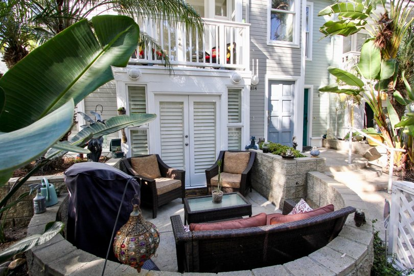 Rich and Modern Living outdoor living Apartment residents of Nantasket Ct in Mission Beach, California