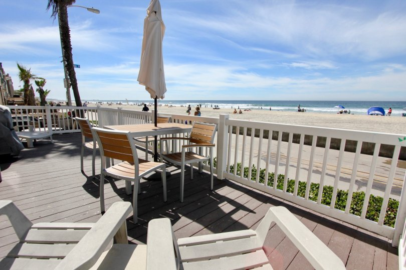 Live on the beach from the your deck at Ocean Front Breakers.