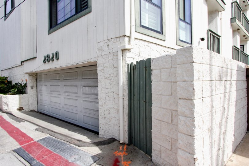 A garage in the Fijian community in mission beach California.