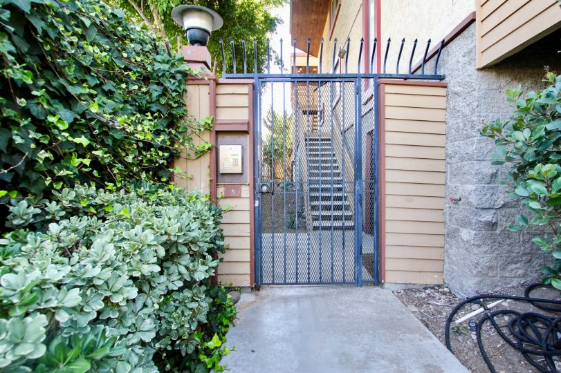 Front Gate and intercom at 4055 Falcon in Mission Hills, CA