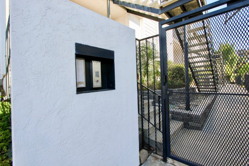 Iron networked gate protects the building in Terrace community