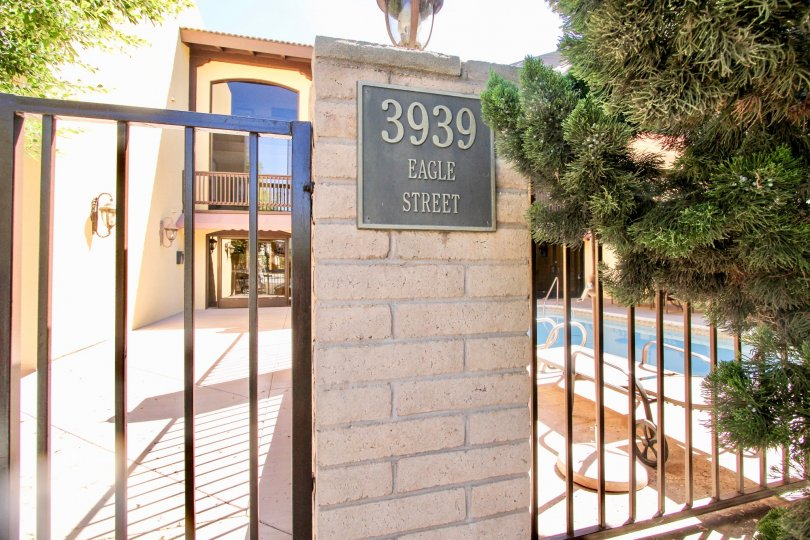 The house in the Eagle Canyon has board with 3939 eagle street and has swimming pool
