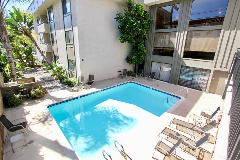 In the Apartment of Mission Crest Gardens has swimming pools and plants
