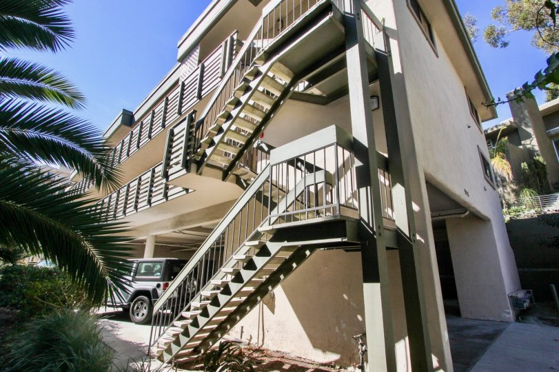 Nicely painted staircase way and in let parking in Torrance Townhomes.