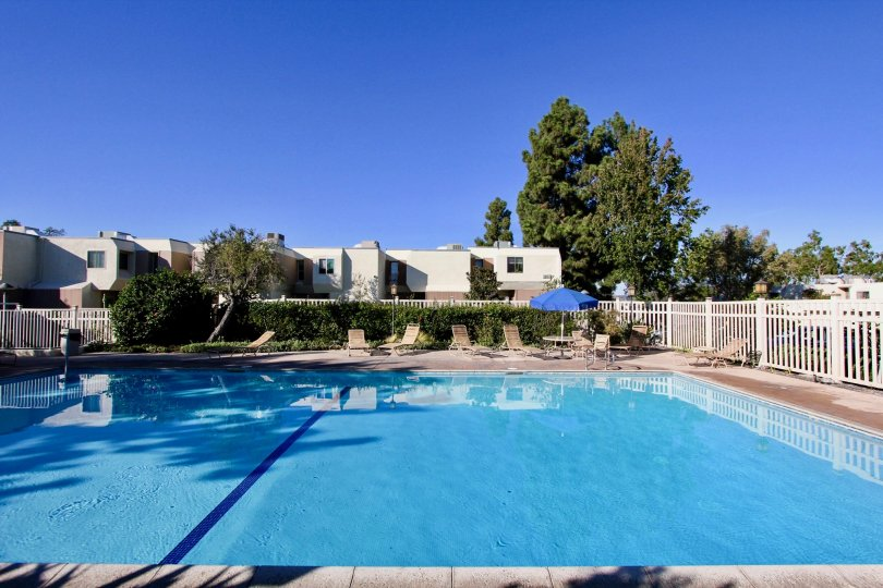 The large pool in Cerro De Alcala in Mission Valley, California is where residences come to unwind.