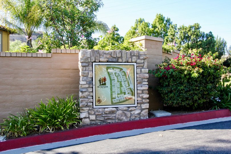 Map located in Courtyards at Escala in Mission Valley, California