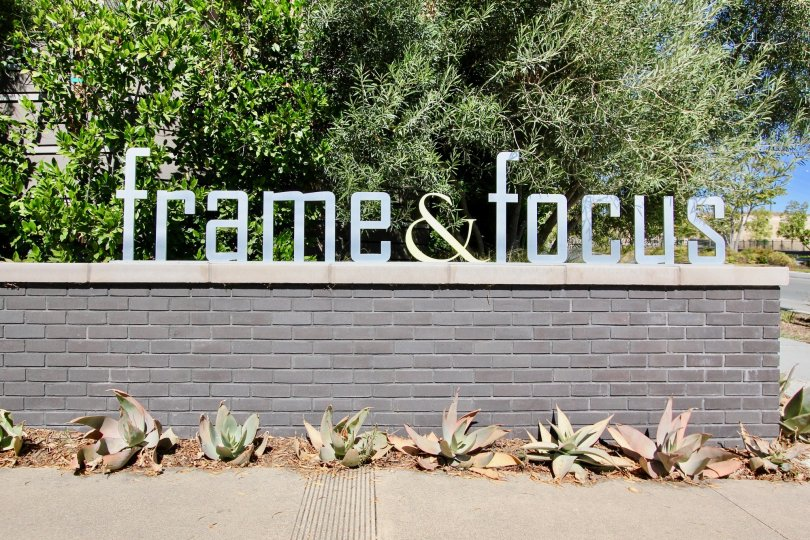 A view of the front entrance to the Frame and Focus residences in Mission Valley, California