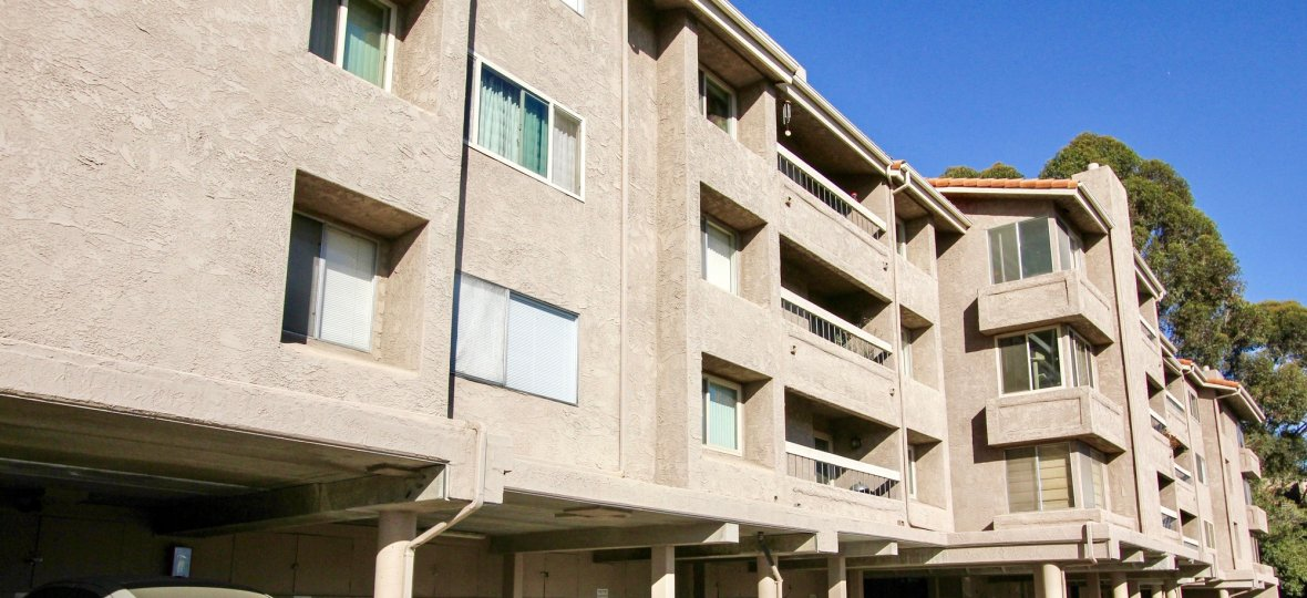 Missaion Valley California Friars Mission four story apartment.
