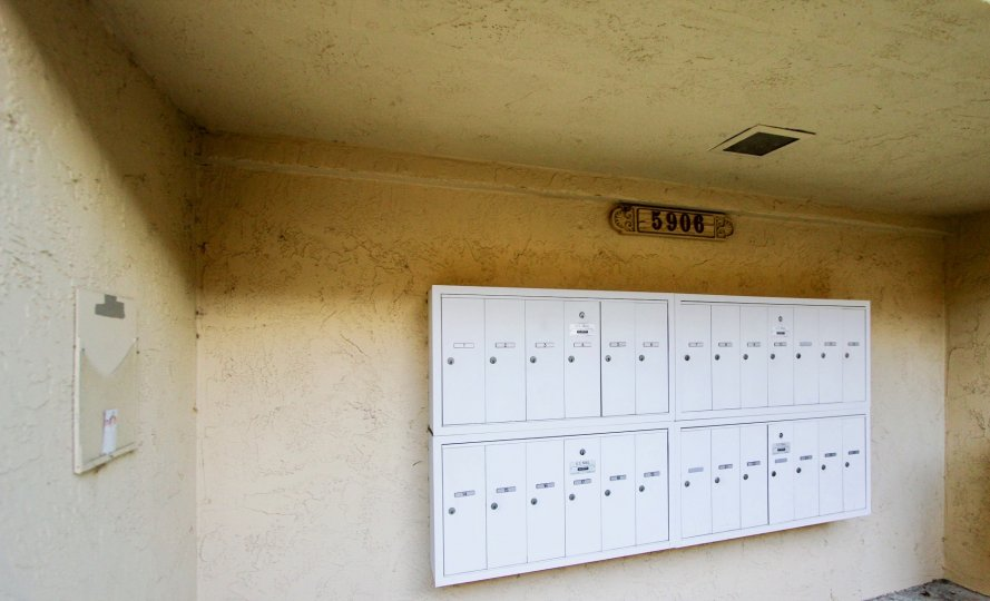 26 electric panels for 5906 at Friars Pointe, Mission Valley, CA. Enclosed. On stucco walls.