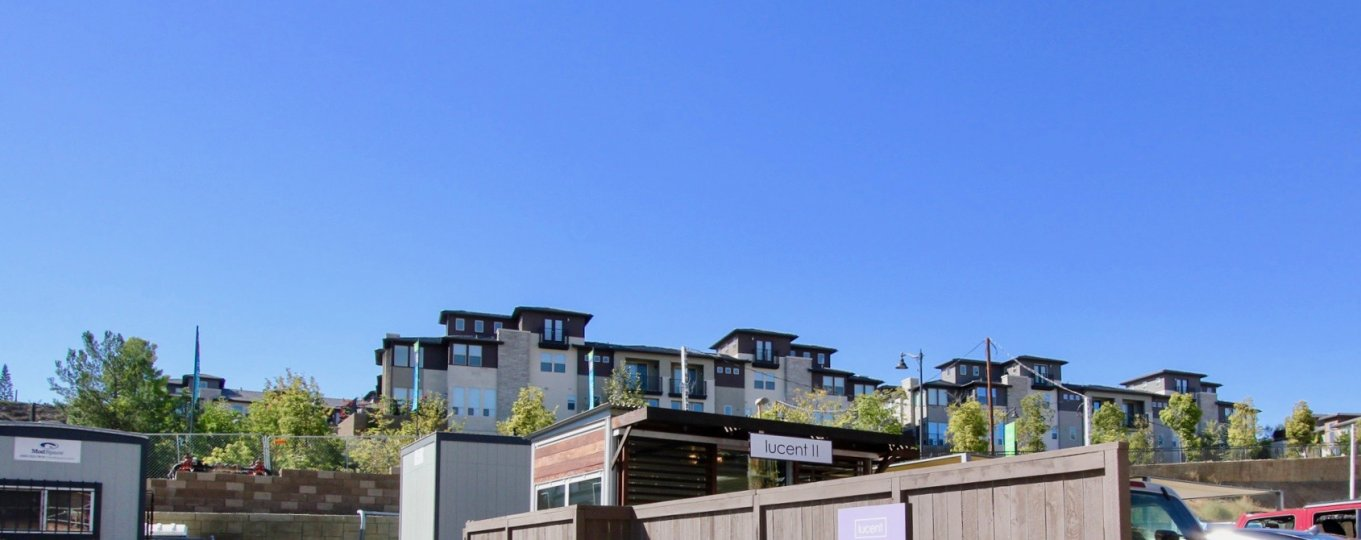 Lucent Lofts In Mission Valley California During a sunny clear sky day