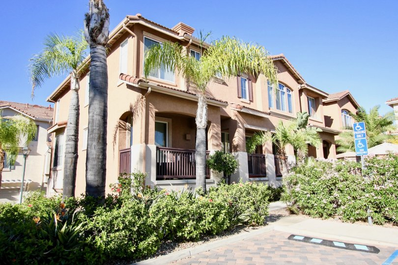 A sunny outdoor shot of a Mission Gate home in Mission Valley, California