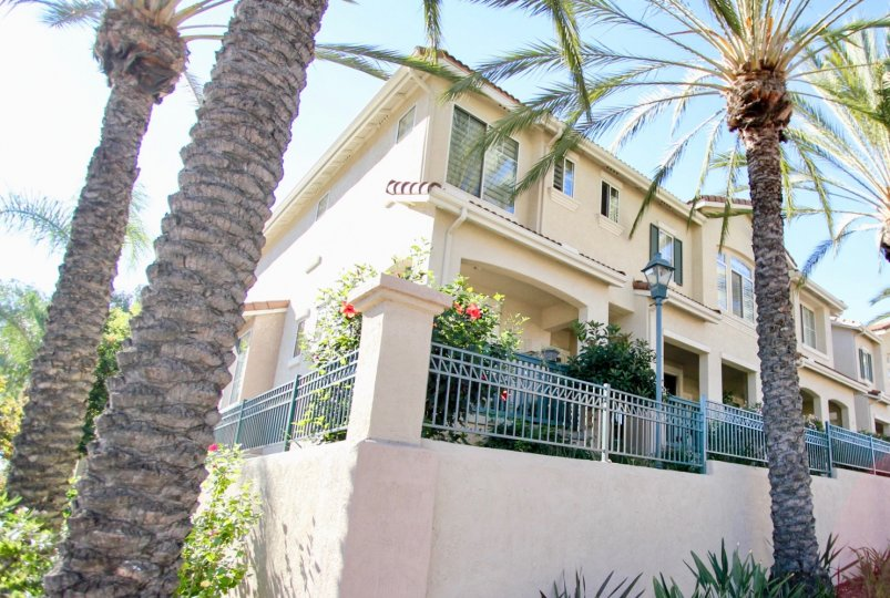 An outside view of a California home during the summer.