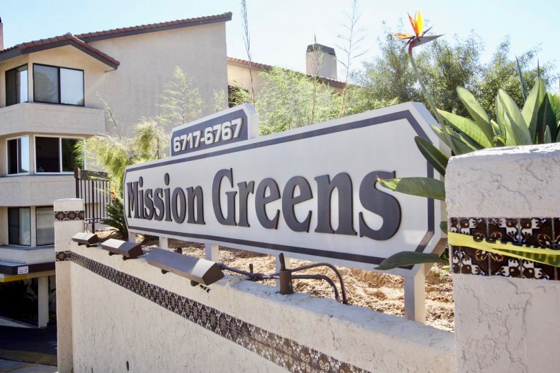 Mission Greens ,: Mission Valley ,California,number,name board