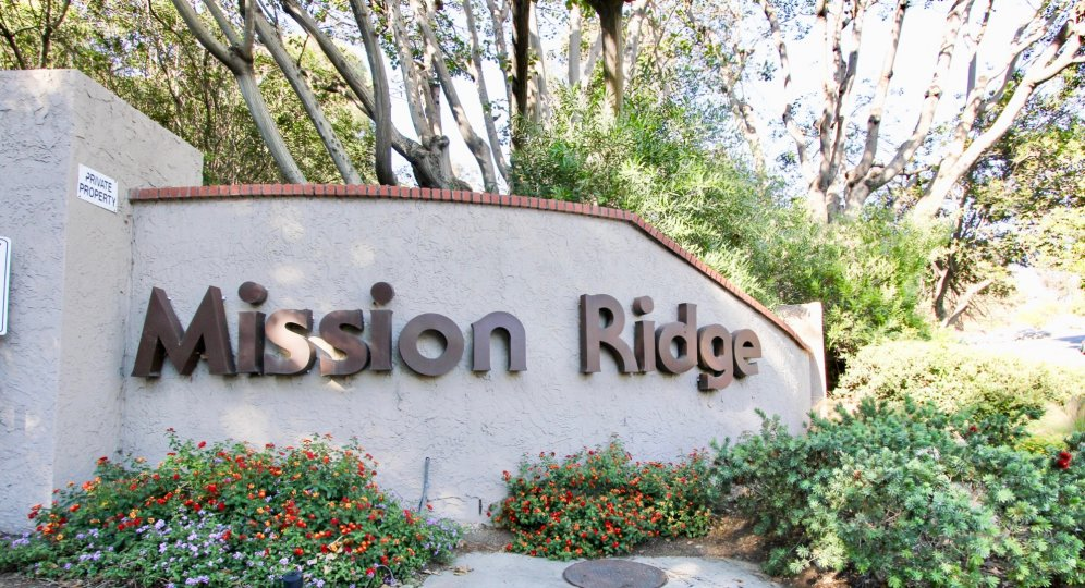 Mission ridge is a private community, located in Mission Valley California. This photo displays the beautiful landscaping.