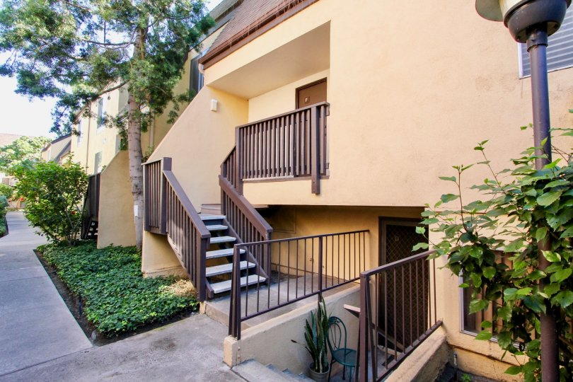 Park Villas North in Mission Valley Front Entrance with Lovely Paved Paths